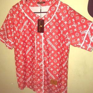 Louis Vuitton Shirts X Supreme